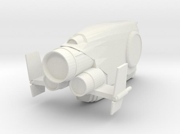 WarDestroyer in White Natural Versatile Plastic