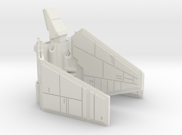 Imperial Shuttle Small in White Natural Versatile Plastic
