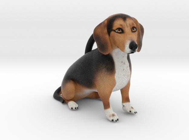 Custom Dog Ornament - MaggieMae in Full Color Sandstone