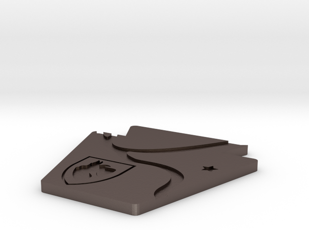Scotty Coaster Customizable in Polished Bronzed Silver Steel