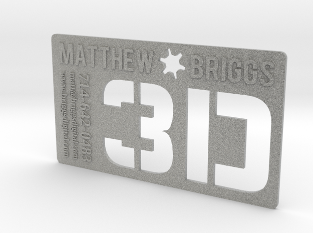 3D Executive Business Card in Metallic Plastic