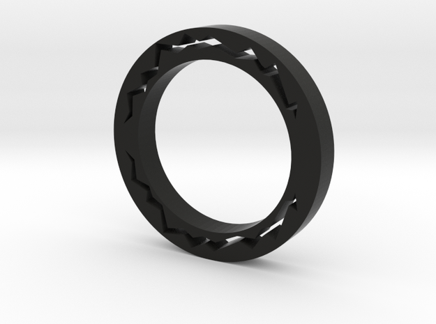 Streak Of Lightning Ring in Black Natural Versatile Plastic