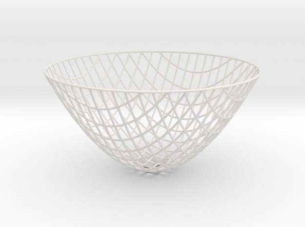 Paraboloid -- XY curves (8in) in White Strong & Flexible