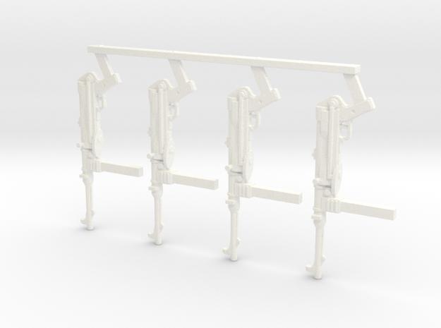1/18 MP-40 in White Processed Versatile Plastic