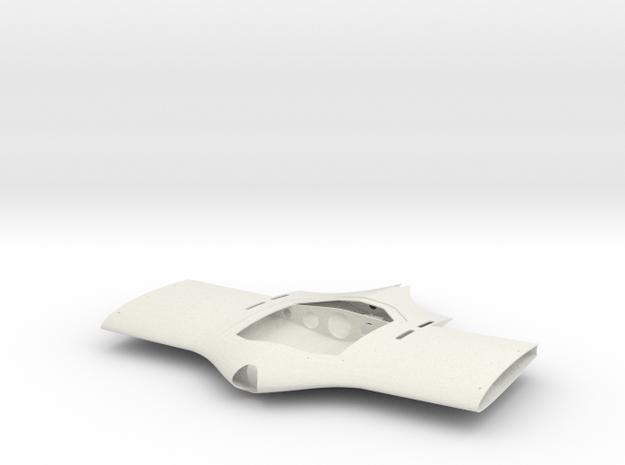 Fuselage in White Natural Versatile Plastic