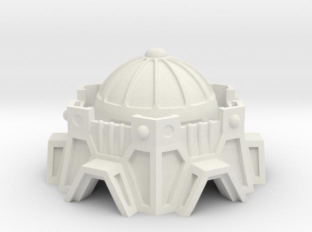 Sci-Fi Fort / Temple in White Natural Versatile Plastic