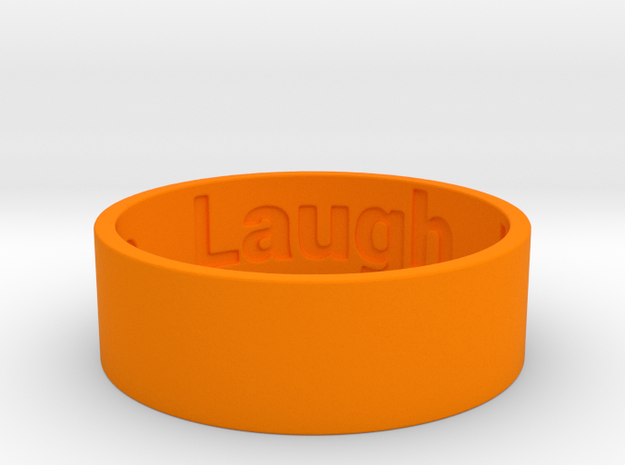 Live Laugh Love Ring Size 8.5 in Orange Strong & Flexible Polished