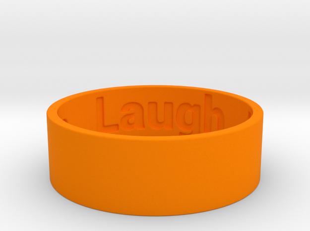 Live Laugh Love Ring Size 8.5 in Orange Processed Versatile Plastic