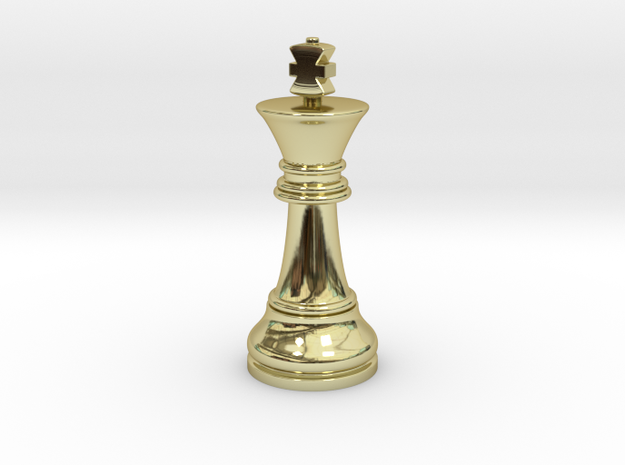 Single King Chess Cross Normal Big | TImur King in 18k Gold