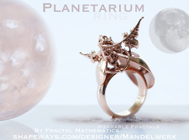 Planetarium Ring - 19.5mm in 14k Rose Gold Plated