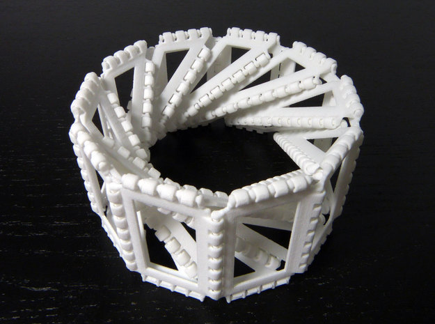 Hinged flat torus in White Strong & Flexible