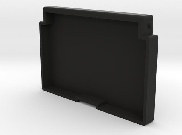 Pillbox Box Scaled 80% in Black Natural Versatile Plastic