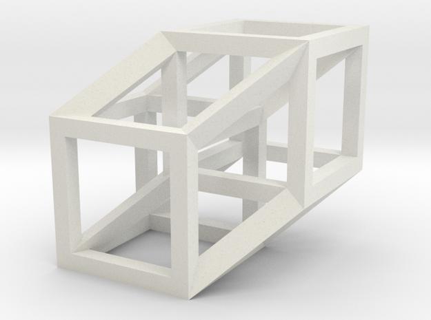4D Hypercube Model in White Strong & Flexible