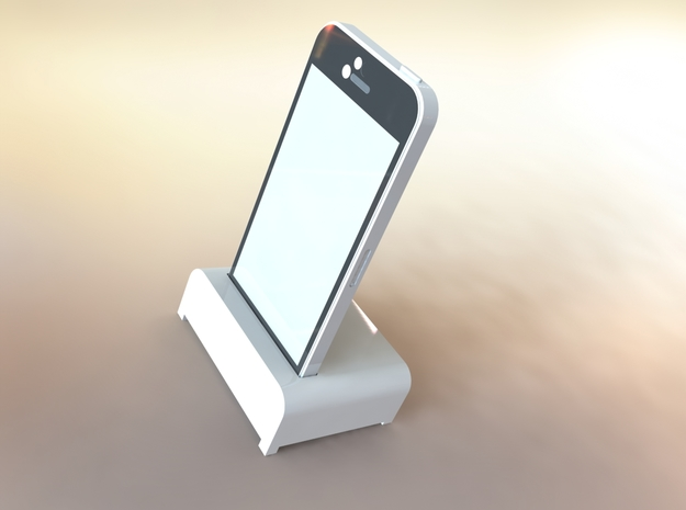 IPhone Desk Stand in White Natural Versatile Plastic