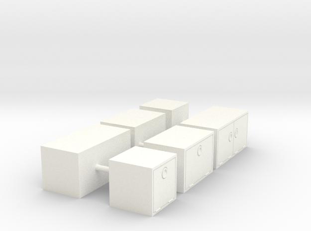 1/64th Truck 'underbody' tool box builders pack in White Processed Versatile Plastic