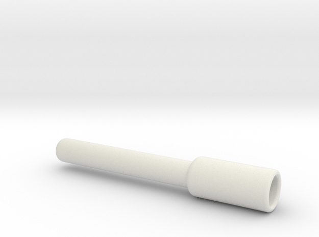 8.5mm Rod to Drill Adapter in White Strong & Flexible