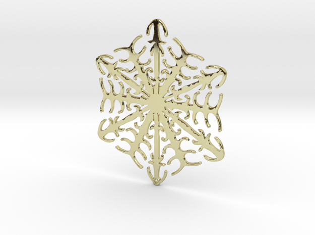 Snowflake Crystal in 18k Gold Plated Brass