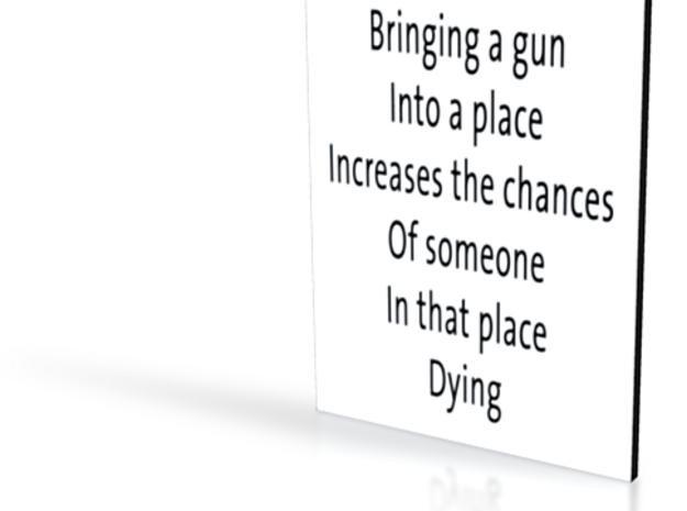 Gun Philosophy - flat - 3in 3d printed