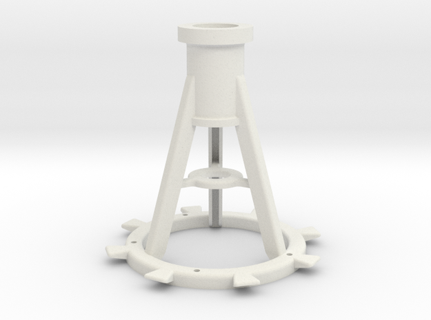 1:16 20mm Pedestal, Late in White Natural Versatile Plastic
