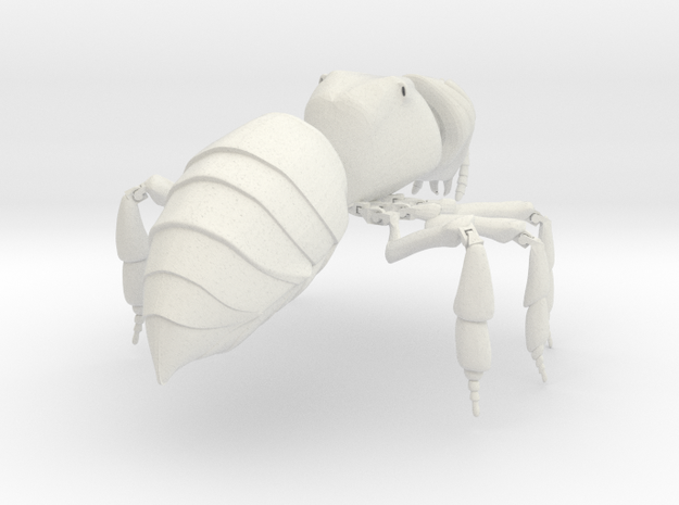 Articulated Honey bee in White Natural Versatile Plastic