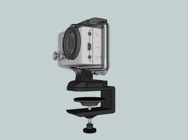 Gopro G Clamp 3d printed
