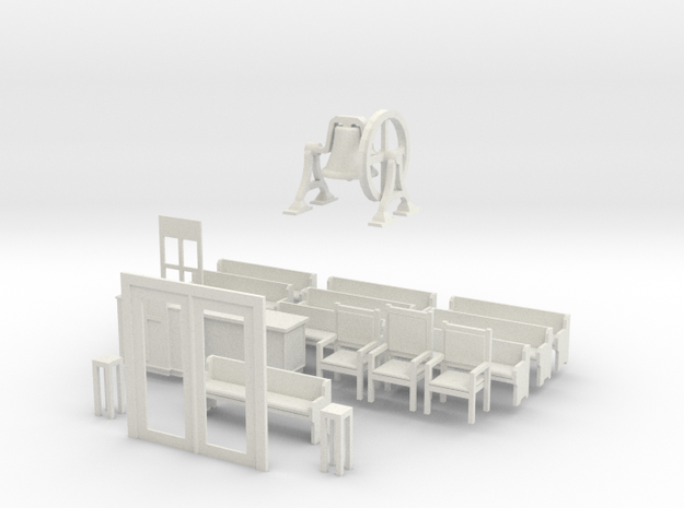 BL Church Furnishing And Int For Doors 3d printed