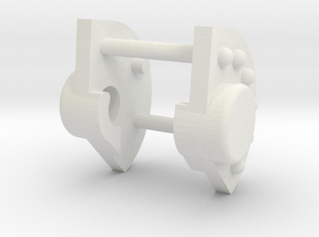 1-25 Katyusha Axle Cap part in White Natural Versatile Plastic