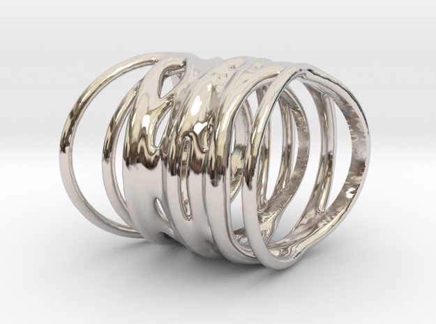 Ring of Rings No.1 in Rhodium Plated Brass