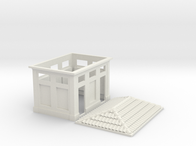 HO Scale Gabinetti - Italian Bathrooms 1:87 in White Natural Versatile Plastic