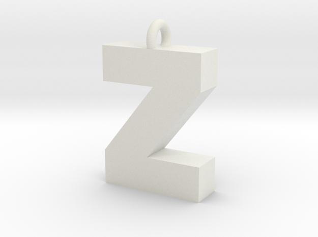 Alphabet (Z) in White Strong & Flexible