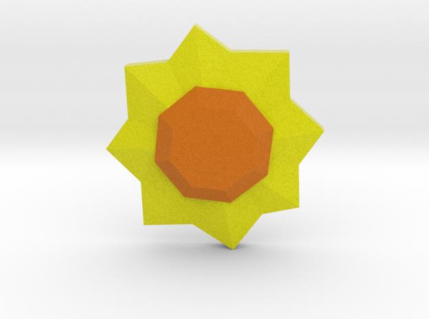 Thunder Badge - Pokemon Badges Kanto in Full Color Sandstone
