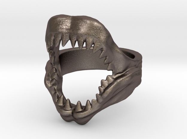 Shark Jaws Ring ( size 11 1/2 ) in Stainless Steel