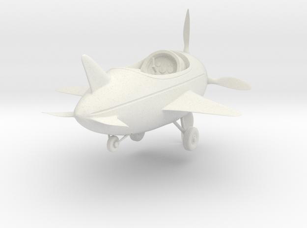 Cartoon Plane(Medium) in White Natural Versatile Plastic