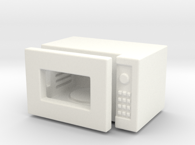 Dollhouse miniature microwave, 1:24 scale