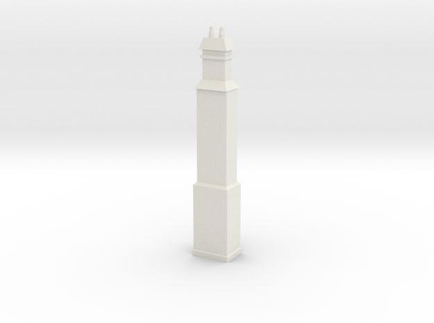 HO Scale Liverpool Station Chimney in White Natural Versatile Plastic