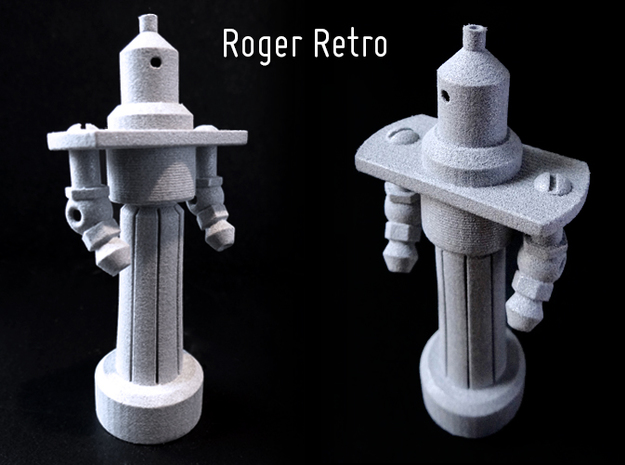 Roger Retro in White Natural Versatile Plastic