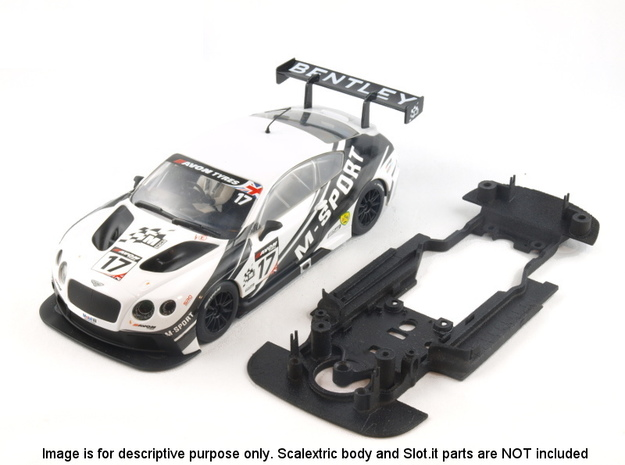 S06-ST2 Chassis for Scalextric Bentley GT3 STD/STD in White Natural Versatile Plastic