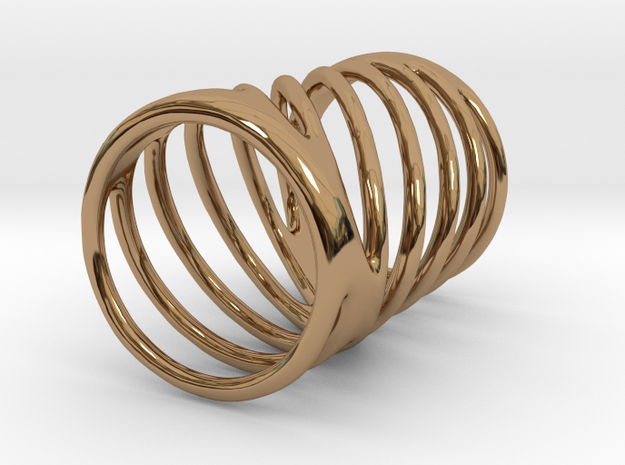 Ring of Rings No.7 in Polished Brass