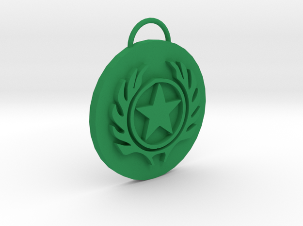 Mortal Kombat Special Ops Pendant in Green Strong & Flexible Polished