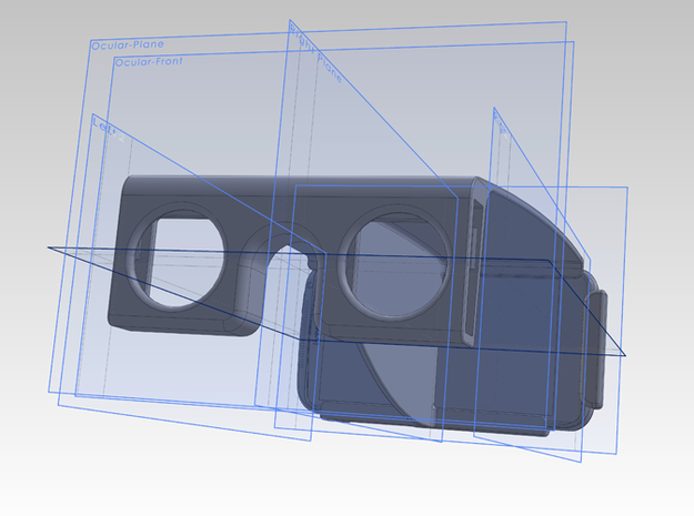 Htc One-X Stereo Attachment 3d printed