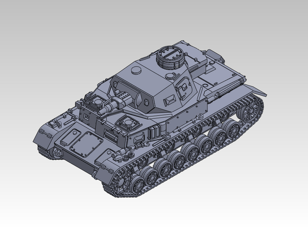 1/144 PzKpfw IV ausf.E in Smooth Fine Detail Plastic