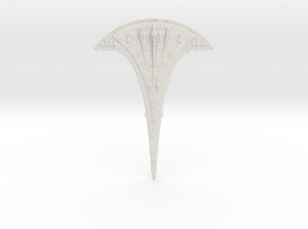 "Ancient Ship KIT 12"" (1:2500) bottom WSF in White Natural Versatile Plastic"