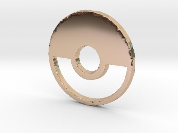 3D Pokeball in 14k Rose Gold