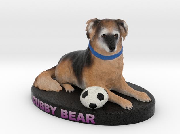 Custom Dog Figurine - Cubby in Full Color Sandstone