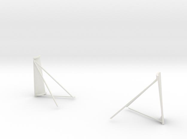 Half Quad 1 & 4 Plume Deflectors-J Missions in White Natural Versatile Plastic