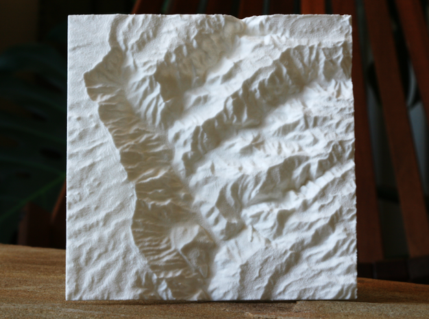 4'' Waimea Canyon Terrain, Hawaii, USA in White Natural Versatile Plastic