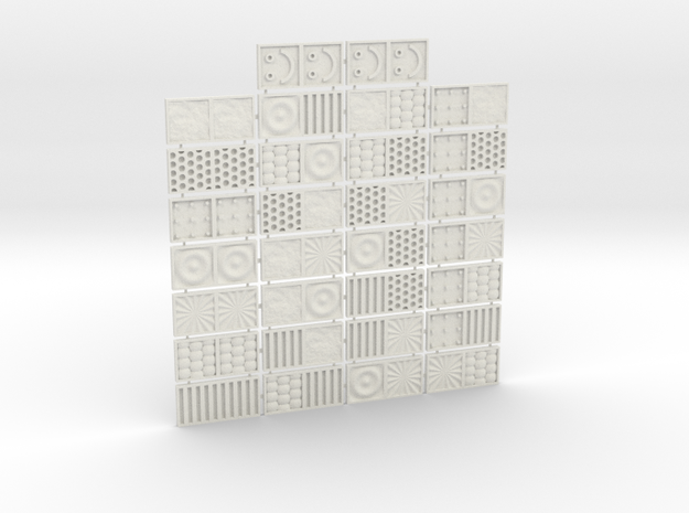 Tactile Texture Dominoes for the blind 1.0 in White Strong & Flexible