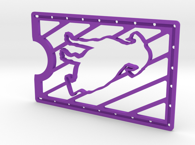 CardWallet Dog Right in Purple Strong & Flexible Polished