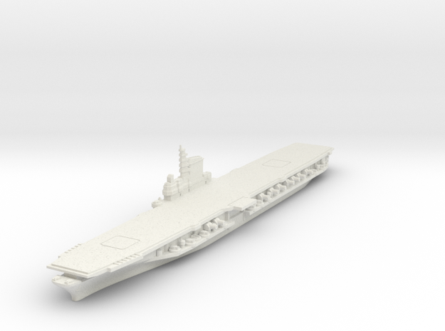 1/2400 USS Midway CV-41 in White Natural Versatile Plastic