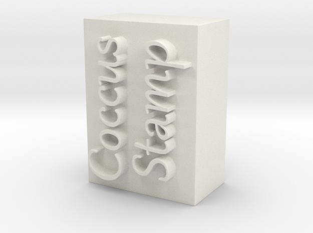 Coccus Stamp in White Natural Versatile Plastic